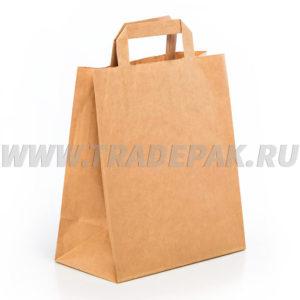 Бумажные пакеты с ручками на вынос / для продуктов купить в Москве по выгодной цене