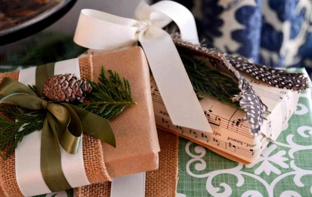 Упаковка из крафт-бумаги для подарков